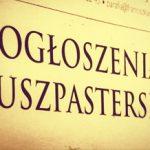 OGŁOSZENIA DUSZPASTERSKIE XII NIEDZIELA ZWYKŁA 21.06.2020 r.